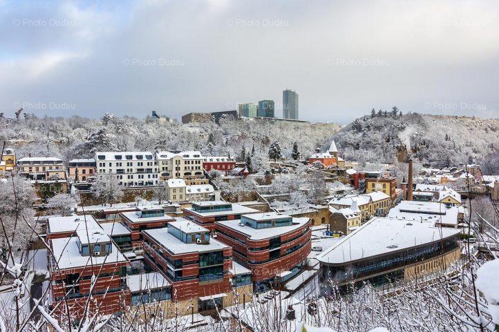 Clausen under snow in winter