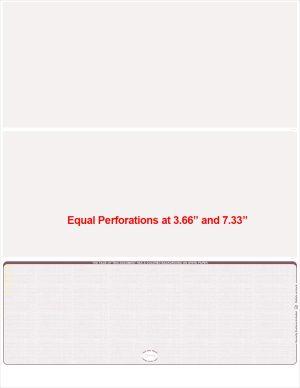 Burgundy Linen Bottom Position Equal Perforations Blank Laser Check