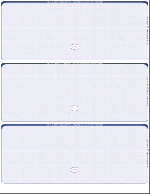 Reflex Blue Linen Three per page Blank laser checks