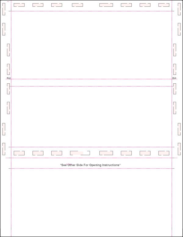 Letter blank z fold pressure seal form no blockouts