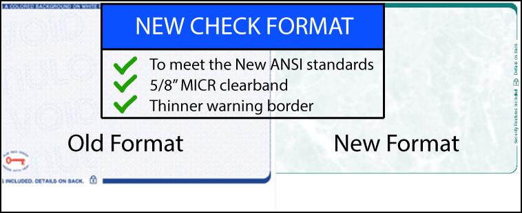 new check design format