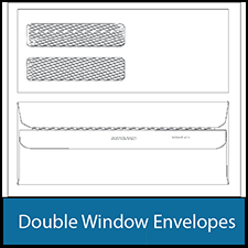 Double Window Envelopes - 9 & 10 Double Window Envelopes