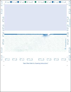 Letter Pressure Seal Z fold Blue Green Blue Prismatic check