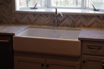 Herringbone Tile Kitchen
