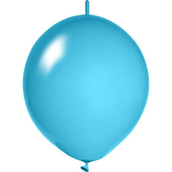 hellblaue Girlanden Luftballons bedrucken