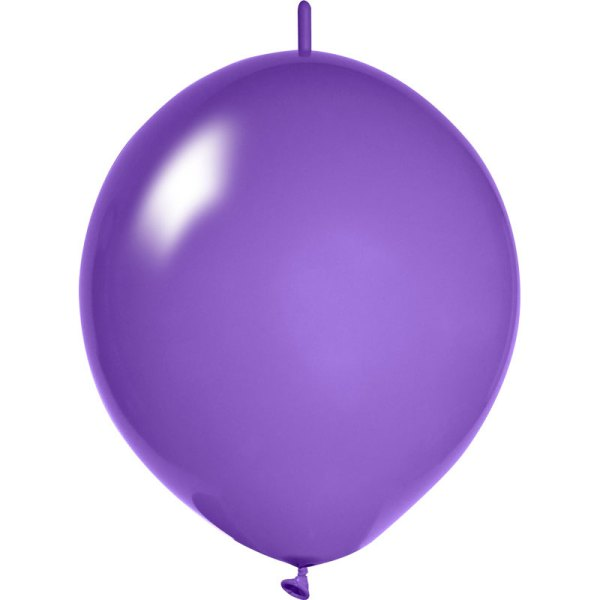 lila Girlanden Luftballons bedrucken