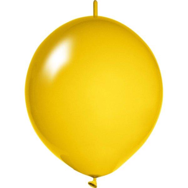ocker-gelbe Girlanden Luftballons bedrucken