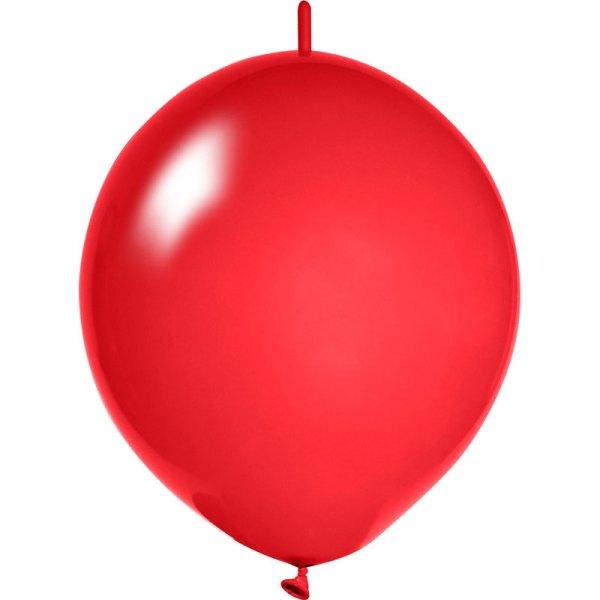 rote Girlanden Luftballons bedrucken