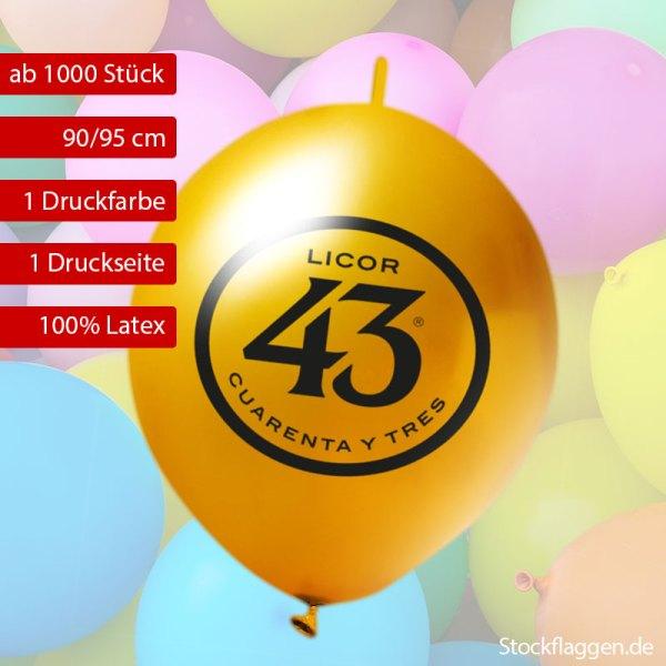 girlanden-luftballon bedrucken Umfang 90/95 cm Umfang, 35 cm Durchmesser ab 10000 Stück