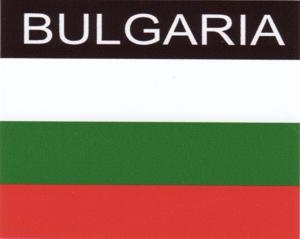 Aufkleber Bulgarien, Länderaufkleber, Nationalflagge, Autoaufkleber