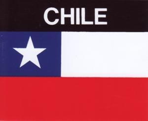 Aufkleber Chile, Länderaufkleber, Nationalflagge, Autoaufkleber