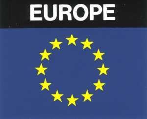 Aufkleber Europa Flagge