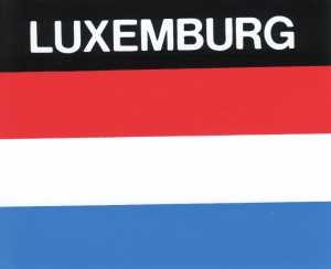 Aufkleber Luxemburg, Länderaufkleber, Nationalflagge, Autoaufkleber