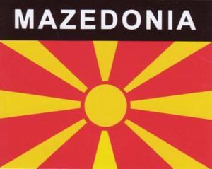 Aufkleber Mazedonien Flagge