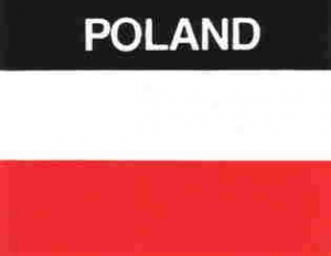 Aufkleber Polen, Länderaufkleber, Nationalflagge, Autoaufkleber