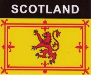 Aufkleber Schottland(Löwe) Flagge