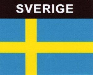 Aufkleber Schweden, Länderaufkleber, Nationalflagge, Autoaufkleber