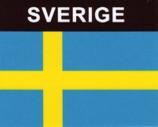 Aufkleber Schweden Flagge