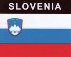 Aufkleber Slowenien, Länderaufkleber, Nationalflagge, Autoaufkleber