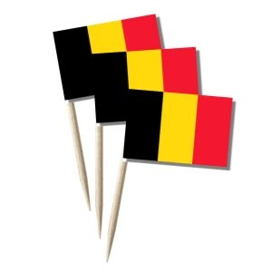 Belgien Käsepicker Minifähnchen Zahnstocherfähnchen