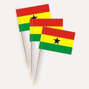 Ghana Käsepicker, Minifahnen, Zahnstocherfähnchen