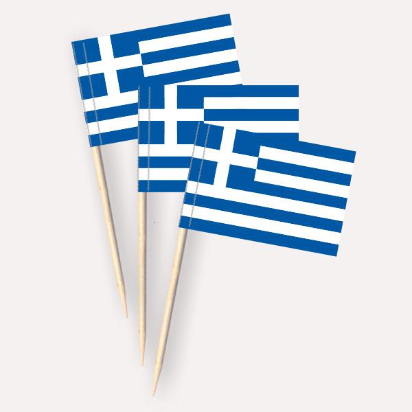 Käsepicker Griechenland | Minifahnen Zahnstocherfähnchen