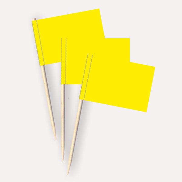 Käsepicker gelb | Minifahnen Zahnstocherfähnchen