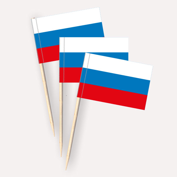 Käsepicker Russland | Minifahnen Zahnstocherfähnchen