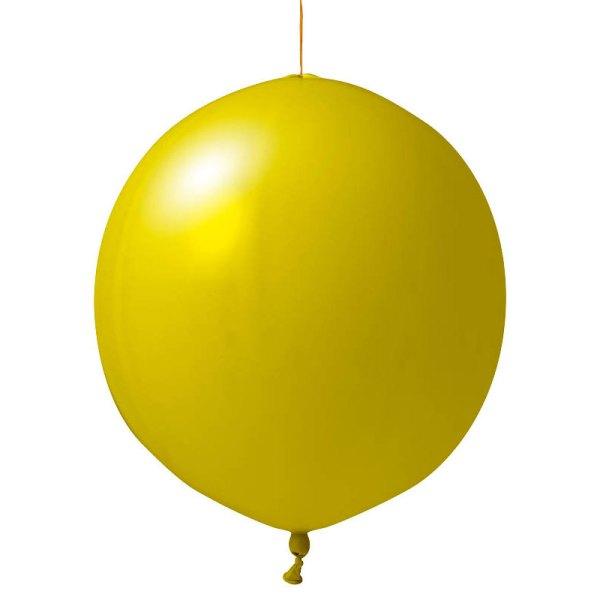 gelbe Punschbälle bedrucken lassen