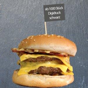 hamburger-picker schwarzer druck