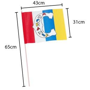 Papierfahne bedruckt 31x43cm 4 farbig