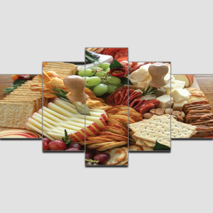 Canvas Print Split Panels (5 in 1) – Fruits and Snacks