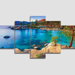 Canvas Print Split Panels (5 in 1) – Lake