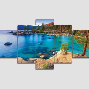 Canvas Print Split Panels (5 in 1) – Lake
