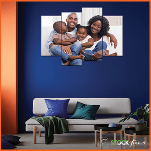 Canvas Print Split Panels (4 in 1) – Family Album