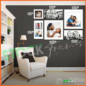 Canvas Prints Gallery Set Panels – 7 Images in 6 Frames