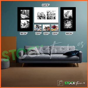 Canvas Prints Gallery Set Panels – 7 Images in 7 Frames