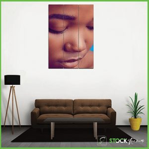 Canvas Prints Triple Slim Panels (1 Image Insert)