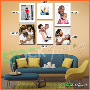 Canvas Prints Gallery Set Panels – 6 Images in 6 Frames