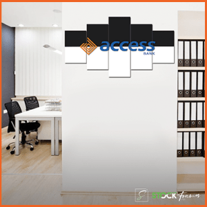 Canvas Print Split Panels (5 in 1) – Office Reception