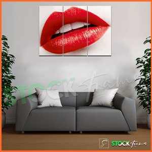 Canvas Prints Triptych – (3 Piece Kiss Wall Arts)