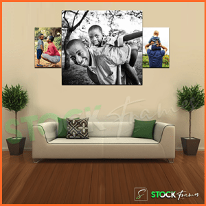 Canvas Prints Gallery Wall Panels – 3 Images in 3 Frames