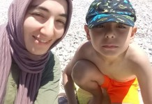 Mehtap Karpuzcu with her son