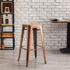 Tannum Vintage Copper High Stool