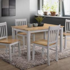 Bolton Grey and Oak Dining Set