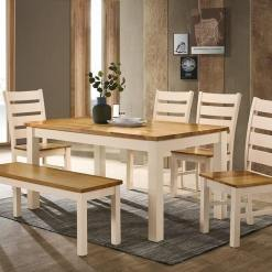 Chelsea Cream & Oak Dining Set