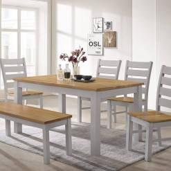 Chelsea Grey & Oak Dining Set