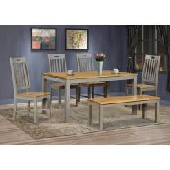 Nappa Grey Oak Dining Set