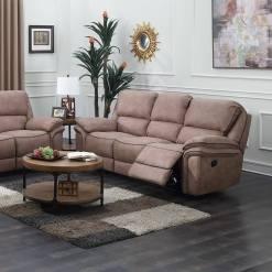 Preston 3 Seater Sand Recliner Sofa