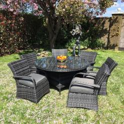 7 Piece Rattan Dining Set
